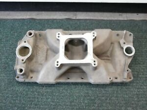 Edelbrock Bowtie Victor Jr Intake Manifold Sbc Small Block Chevy 2977