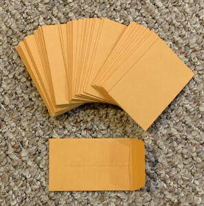 50 Kraft Coin Envelopes 1 Size 2 25 By 3 5 With Gummed Flap Small Seed Change