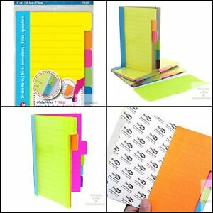 Redi tag Pad 60 Ruled Notes Divider Sticky Notes Tabbed Self stick Lined Note