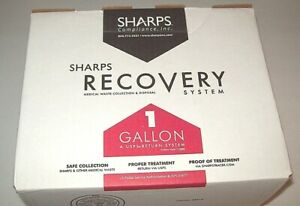 Sharps Recovery Medical Wasste Collection Disposal System 1 Gallon New