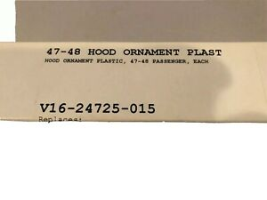 1947 1948 Ford Blue Hood Ornament Inset Fits All 1947 1948 Ford Card