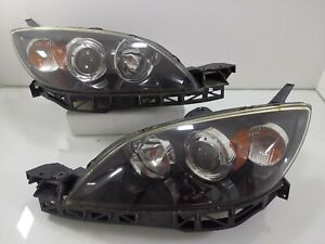 03 07 Mazda 3 Speed Bk Bk5p Front Head Lights Lamps Xenon Hid Lights Lamp 1 Pair