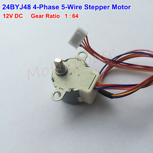 Small Gear Stepper Motor 24byj48 Dc 12v 4 phase 5 wire Gear Box Reduction Motor