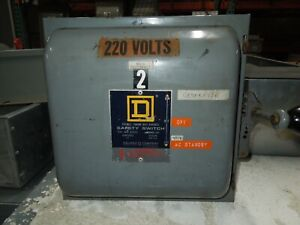 Square D 82352 A1 60a 3p 240vac Double Throw Non fusible Manual Transfer Switch
