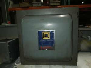 Square D 82342 E1 60a 3p 600vac Double Throw Non fusible Manual Transfer Switch