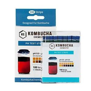 Ph Test Strips For Kombucha Brewing 0 6 0 5 Intervals 100pc Kit