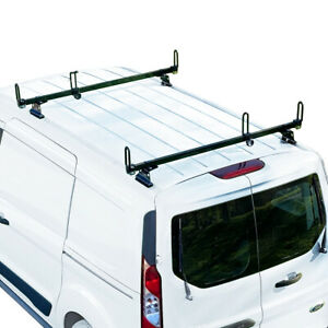 Heavy Duty 2 Bar Black Gfy Ladder Roof Rack Fits Ford Transit Connect 2014 On