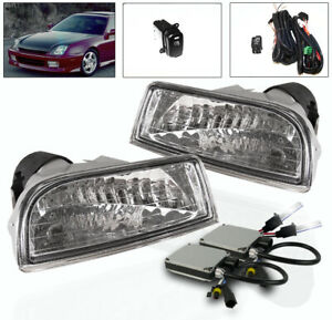 For 1997 2001 Honda Prelude Front Bumper Driving Fog Lights Harness 6k Xenon Hid