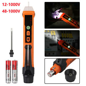 Ac Non contact Electric Test Pen Voltage Digital Detector Tester Led 12 1000
