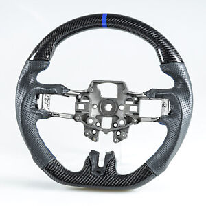 Carbon Fiber Leather Blue Steering Wheel For Ford Mustang Ecoboost 5 0gt 15 17