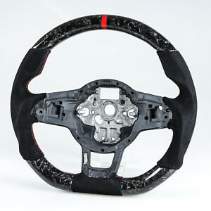 Forged Carbon Suede Steering Wheel For Vw Golf polo Gti Jetta Scirocco tiguan