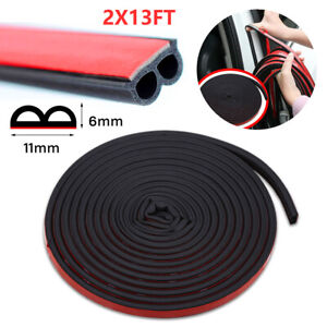 26ft B Shape Rubber Weather Seal Hollow Universal Car Door Strip Weatherstrip Us