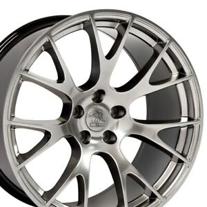 20 Rims Fit Dodge Charger Challenger Hellcat Hyper Black Wheels 2528