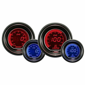 Prosport Evo Series 52mm Digital Boost Turbo Oil Pressure Gauge Blue Red