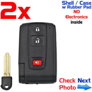 2x New Replacement Keyless Entry Remote For Toyota Prius 2004 2009 Shell Only