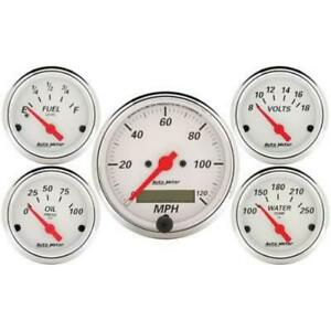 Autometer 1302 Arctic White Gauge Kit 3 1 8 In 2 1 16 In