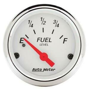 Autometer 1315 Arctic White Fuel Level Gauge 2 1 16 In