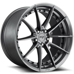 New Staggered Niche Wheels M197 Sector 20x9 20x10 5 5x114 3 35 40 Gunmetal