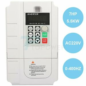 7hp 220v 5 5kw Variable Frequency Drive Vfd Single To 3 Phase Speed Controller