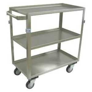 Jamco Zh236u403 20 Ga Stainless Steel Utility Cart 600 Lb Capacity 40 l X