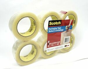 3m Scotch Moving Storage Heaving Duty Packing Tape 6 Rolls 1 88 X 54 6 Yds