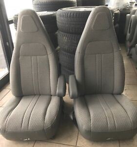 1997 2019 Chevy Van Bucket Seats Grey Cloth Driver Passenger