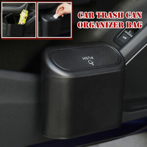 Car Trash Can Garbage Bin Bag Organizer Universal For Vehicles Waterproof Black