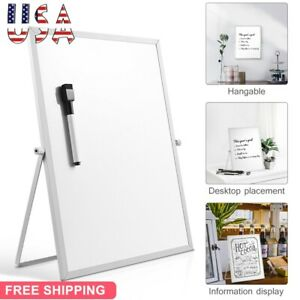 Magnetic Dry Erase Board Double Sided White Board Stand Household School Us