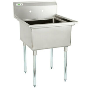 28 Stainless Steel Nsf One Compartment Commercial Restaurant Kitchen Sink Legs