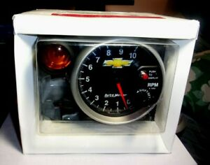 Autometer Gm Bowtie 5 Monster Tachometer With Shift Light Pedestal 10k Rpm
