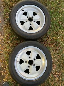Genuine Porsche 911 930 Fuchs Wheels 16x7 Pair 911 352 115
