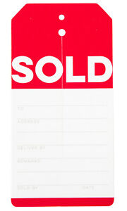 Sale Price Tag Red Modern Sale Slit Tags case Of 1 000