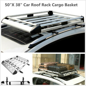 50 X 38 Universal Car Top Roof Rack Luggage Cargo Carrier Basket Aluminum Alloy