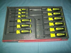 New Snap On Sgdxw120bh 12pc Soft Grip Combination Screwdriver Set Hi Viz Sealed