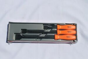 Snap On Carbon Scraper Set 3 Pc Orange Hard Handle Rare Brand New Csa300a