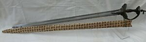 Interesting 18 Century Firangi Sword With Gold Traces And Armory Marked Blade