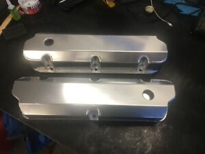 Small Block Ford Fabricated Polished Aluminum Valve Covers Sbf 289 302 351w 5 0l