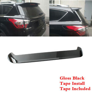 Fit For Ford Kuga Escape 2013 2019 Rear Roof Painted Black Spoiler Wing Abs