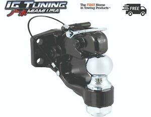 Pintle Hook With Tow Hitch Black Ball 2 Combo 4wd Usa Seler