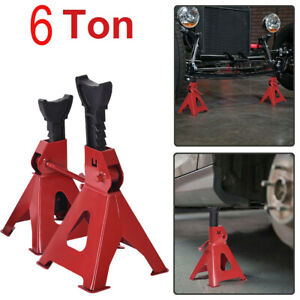 6 Ton High Lift Jack Stands 2 Pcs Car Auto Truck Garage Tools Set Adjustable Usa