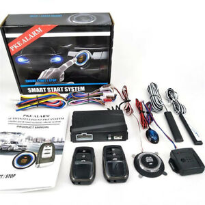Keyless Entry One button Start Alarm System Remote Kits Fit For Car Truck Suv