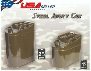 10l 5l Military Metal Fuel Jerry Can Storage Container Usa Seller