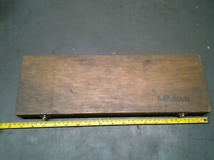 Mitutoyo 505 648 50 12 001 Dial Caliper In Wood Box Only ms 208