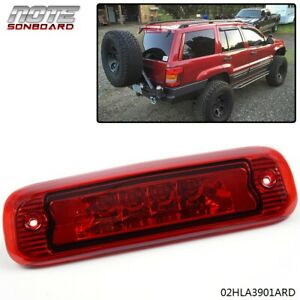 For 97 01 Jeep Cherokee Xj Led Third 3rd Tail Brake Light Rear Stop Lamp Red