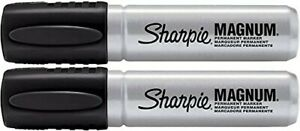 New 2 Sharpie Magnum 44001 Permanent Marker Black 2 Count
