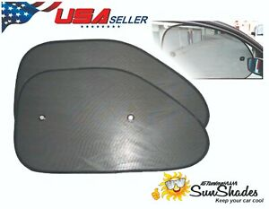 Car Side Sunshade Mesh Cover Suction Cup 2pcs Usa Seller