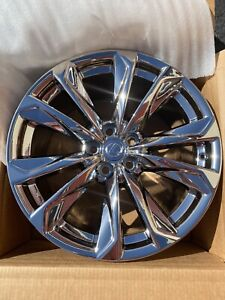 20 Lexus Ls500 Ls500h Oem Pvd Chrome Wheel Rims 74368 74371 Set Of 4 With Caps