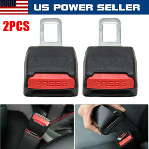 2 Pack Car Safe Seat Belt Buckle Extension Extender Clip Alarm Stopper Universal