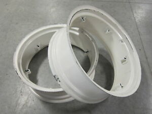 2 Wheel Rims 11x28 For Ih International 300 Utility 330 350 354 364 384 404 424