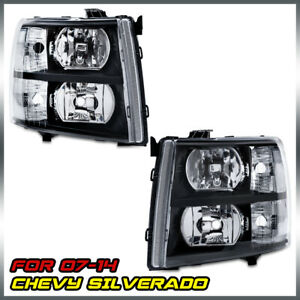 Headlights Assembly Fit For 2007 2014 Silverado 1500 2500 Hd 3500 Hd Headlamps